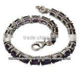 indian gemstone bracelet manufacturer, 925 sterling silver amethyst tennis bracelet, oval gemstone bracelet for women and girls