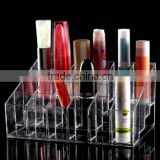 24 Lipstick Holder Display Stand Clear Acrylic Cosmetic Organizer Makeup Case Sundry Storage makeup organizer organizador Brand
