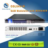DTV platform 16 ASI input 4 channel MUX scrambling QAM modulator suitable for Cable TV headend system