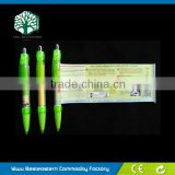Pen With Roll Out Paper, Rubber Grip Banner Pen, Ball Pen With Flag