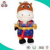 Cute Funny Fabric Customed Soft Plush Cow Pencil Case for gift