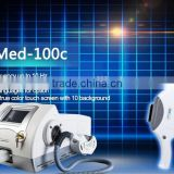 Med-100c 2015 hot sell portable ultrasonicskin care whitening agent natural hair removal system