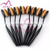 10 Pcs Pro Oval Makeup brush