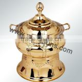 Unique Design Royal Style Rose Gold Plated Stainless Steel Hanging Chafing Dish for Banquet | Hot Sale Chafing dish