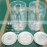 8oz Transparent PET Plastic soda Can
