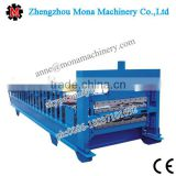 Ethiopia Automatic Hydraulic Glazed Tile Roof Panel Cold Steel Sheet Roll Forming Machinery