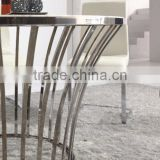 DT11 Luxury granite marble top 48 inch round dining table sets