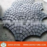 black basalt cobble on mesh