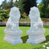 cheap and high quality Chinese stone carving life-size marble lion statue