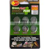 Green max button cell batteries