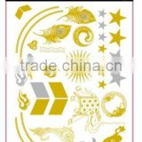 T005-007 Hotsale special design cheap gold and silver temporary tattoo glitter removal bulk tattoo sticker