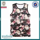 Adults Age Group vest and Tank Top Product Type Tank tops womens sleeveless muscle back singlet/tank top sublimation 3d tank top