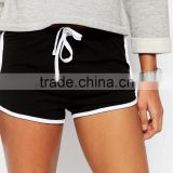 Customized Womens Cotton Sports Running Shorts Fashion Factory Wholesale Womens Gym Shorts