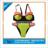 Wholesale Fashion Ladies Neoprene Bikini With Neon Soft Fabric