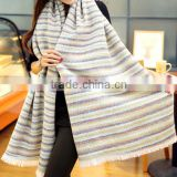 new design wholesale woven ladies striped scarf