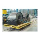 10 Ton Auto Workshop Equipment Flat Rail Transfer Cart Or Motorized Trolley