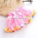 Three Layers Lovely Lace Wedding Flower Girl Dress Colorful Summer Tutu Skirt Yiwu Hot Sale