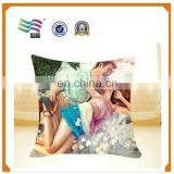 Comfortable 18 inch Customized Cover Sofa Decorative Throw Pillow, Plain Cotton Throw Pillow Cover