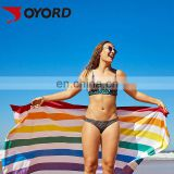 100% polyester custom printed microfiber cooling beach towel for sports