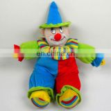 colourful stuffed plush clown toy