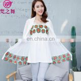 Two-piece high quality embroidery designed lady camisole and cardigan set