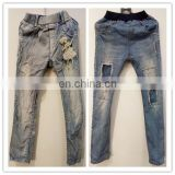 Latest and clean well sorted used denim jean trousers for children