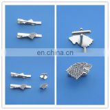 animal head silver plated cufflinks and tie clip for business gifts