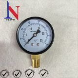2.5 Inch Black Steel Case Brass Connector Pressure Gauge