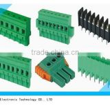 Manufacture of PA66 8 pin green PCB pluggable type screwless terminal block 5.08mm 3.5mm 2.54mm pitch