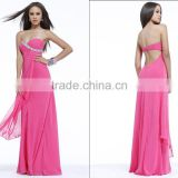 2014 Hot Sale High Quality Elegant Straight Prom Dress with Beading Sweetheart Backless Prom Dress