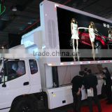 P10 outdoor advertising full color video led mobile billboard trailer