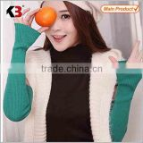 Top quality cotton gloves half fingers gloves & mittens, guangzhou fingerless cable knit gloves/
