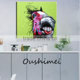 Funny Horse Oil Paintings Modern Abstract Lovely Animals Pictures Home Decor Hang Paintings