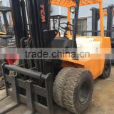 Japan made tcm 5t forklift used condition tcm 5t lifter with 3 stages second hand tcm 5t forklift with isuzu engine for sale