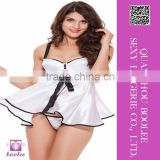 Hot selling newest fashion white babydoll
