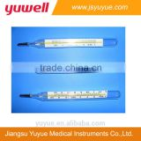Glass thermometer flat type mercury clinical thermometer