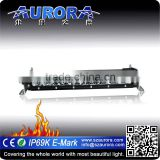 IP68&IP69K Waterproof AURORA 10 inch 50w single row offroad light bar for sale