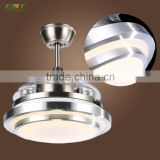 Glass Lampshade Remote Control Concealed Ceiling Fan                                                                         Quality Choice