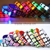Hot Selling Glow In The Dark Dog Collars Safety LED Light-up Flashing Light Pet Belt Pet Necklace With Key Chain