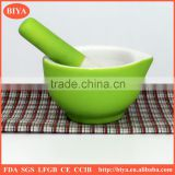 pestle and mortar Kitchenware mini mortar and pestle with silicone handle and non-slip silicone base