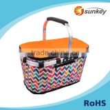 Customized logo fabric picnic basket for export                                                                                                         Supplier's Choice