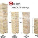 Giant jenga wooden blocks stacking game
