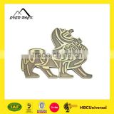 Custom anti-brass color engrave metal label like peg-top practical metal label manufacturer