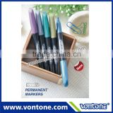 Multi colored metallic marker pen,permanent marker with high quality