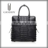 2016 Black Double Handles Lady Genuine Leather Handbag Lady Hand Bag                                                                         Quality Choice