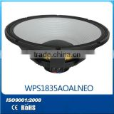 18 inch Professional PA system speaker- strongl magnet Aluminun frame Drive Voice Coil 44MM