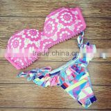 Summer Wholesale swimsuit rose Lace swimming women sexy bikini 2015 new swimwear swimsuit
