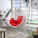 wicker hanging chair stand