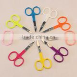 Stainless Steel Cuticle Beauty Scissors with Fluorescent Paint Handle