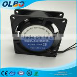 Axial Fans 80mm AC Fan 8025 80x80x25 220V240V AC Windor Fan Cooling with CE/RoHS Approved